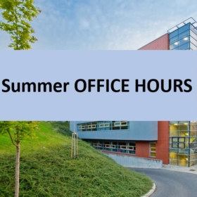 FIS Master Office hours in July and August