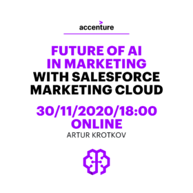 "Webinář ""Future of AI in Marketing with Salesforce Marketing Cloud"" – 30. 11. 2020"