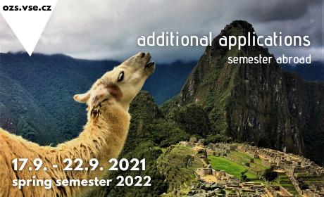 Mimořádné přihlašování na semestrální výměnné pobyty v zahraničí vLS2022